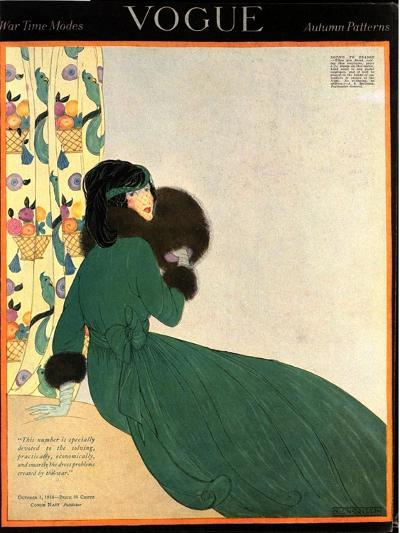 Vogue Cover - October 1918-Helen Dryden-Premium Giclee Print