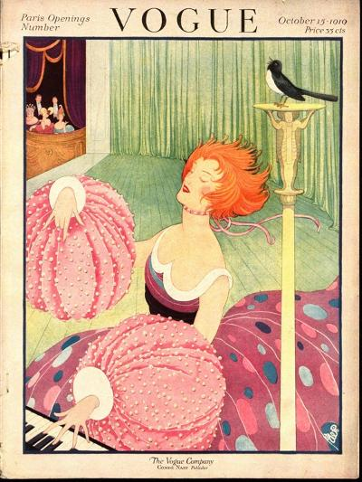 Vogue Cover - October 1919-George Wolfe Plank-Premium Giclee Print
