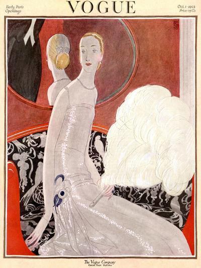 Vogue Cover - October 1922-Eduardo Garcia Benito-Premium Giclee Print