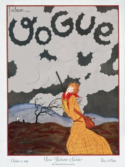 Vogue Cover - October 1924-Georges Lepape-Premium Giclee Print