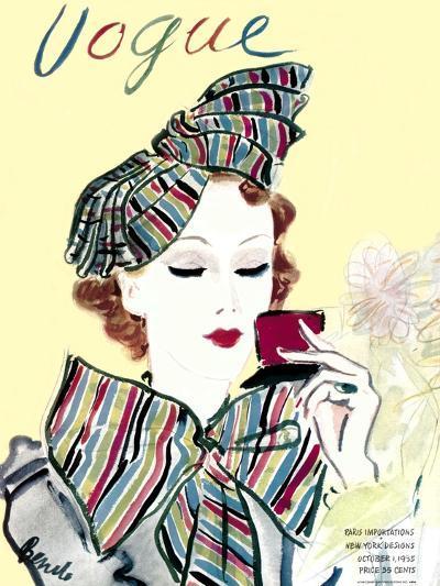 Vogue Cover - October 1935-Eduardo Garcia Benito-Premium Giclee Print