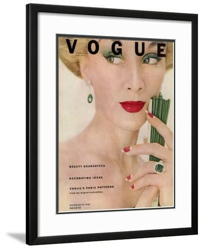 Vogue Cover - October 1951-Clifford Coffin-Framed Giclee Print
