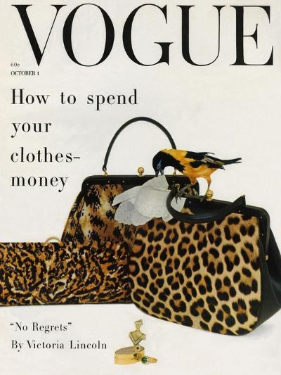 Vogue Cover - October 1958 - Animal Accessories-Richard Rutledge-Premium Giclee Print