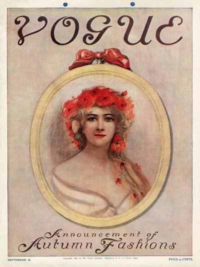 Vogue Cover - September 1909--Premium Giclee Print