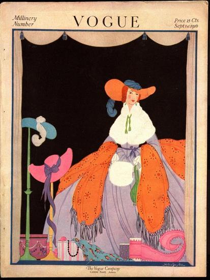 Vogue Cover - September 1916-Helen Dryden-Premium Giclee Print