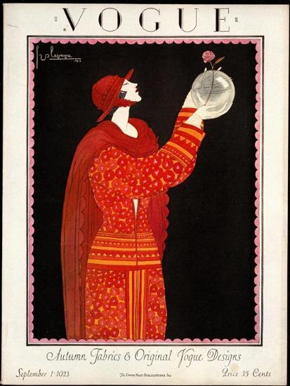 Vogue Cover - September 1923-Georges Lepape-Premium Giclee Print