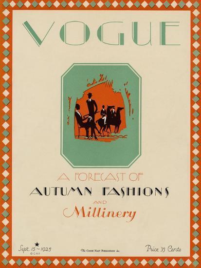 Vogue Cover - September 1925-Libiszewski-Premium Giclee Print