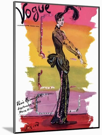 Vogue Cover - September 1939 - Parisian Rainbow-Christian Berard-Mounted Premium Giclee Print