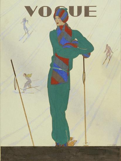 Vogue - December 1928-Pierre Pag?s-Premium Giclee Print
