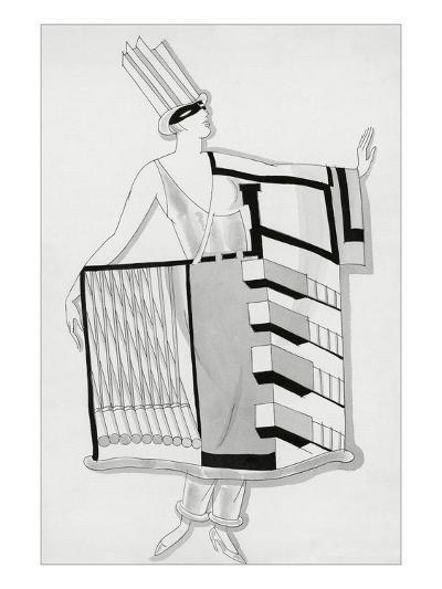 Vogue - December 1930-Robert E. Locher-Premium Giclee Print