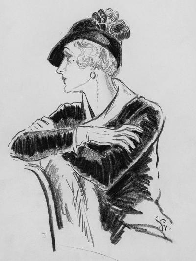 Vogue - December 1931-Porter Woodruff-Premium Giclee Print