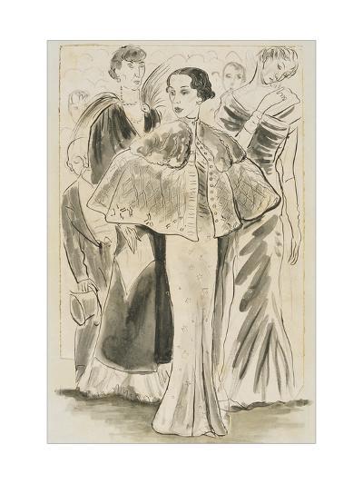 Vogue - December 1933-Cecil Beaton-Premium Giclee Print