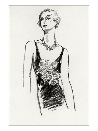 Vogue - December 1934-Porter Woodruff-Premium Giclee Print