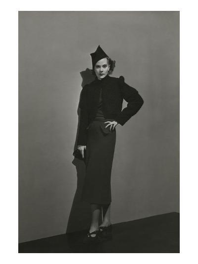 Vogue - December 1936 - Princess Nathalie Paley in Lelong Dress-Andr? Durst-Premium Photographic Print