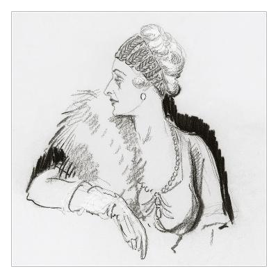 Vogue - December 1936-Porter Woodruff-Premium Giclee Print