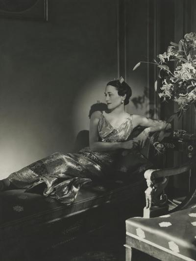 Vogue - December 1937-Horst P. Horst-Premium Photographic Print