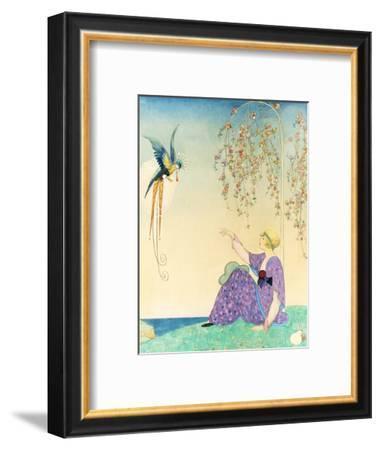 Vogue - February 1914-George Wolfe Plank-Framed Premium Giclee Print