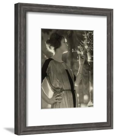 Vogue - February 1921-Baron Adolphe De Meyer-Framed Premium Photographic Print