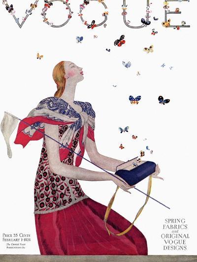 Vogue - February 1924-Eduardo Garcia Benito-Premium Giclee Print