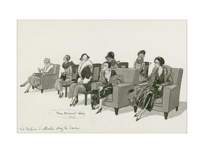 Vogue - February 1931-Pierre Brissaud-Premium Giclee Print
