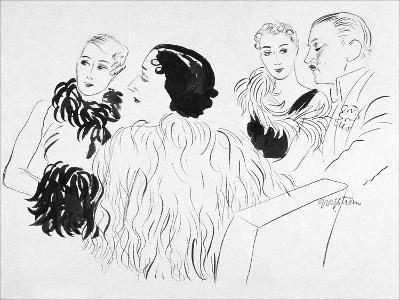 Vogue - February 1933-R.S. Grafstrom-Premium Giclee Print