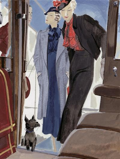 Vogue - February 1933-Jean Pag?s-Premium Giclee Print