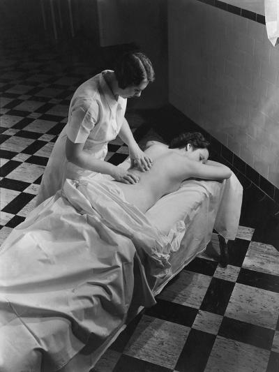 Vogue - February 1936 - Massage at The Saratoga Spa-Lusha Nelson-Premium Photographic Print