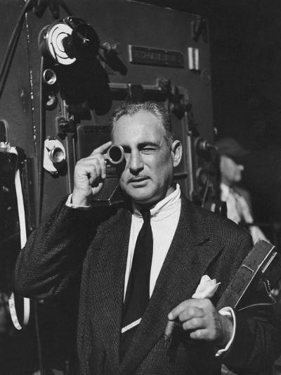 Vogue - February 1952 - Cinematographer on Film Set-Howard Jean-Premium Photographic Print