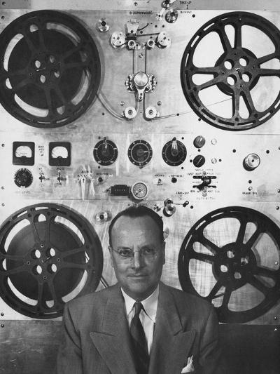 Vogue - February 1952 - Hollywood Sound Equipment Inventor-Howard Jean-Premium Photographic Print