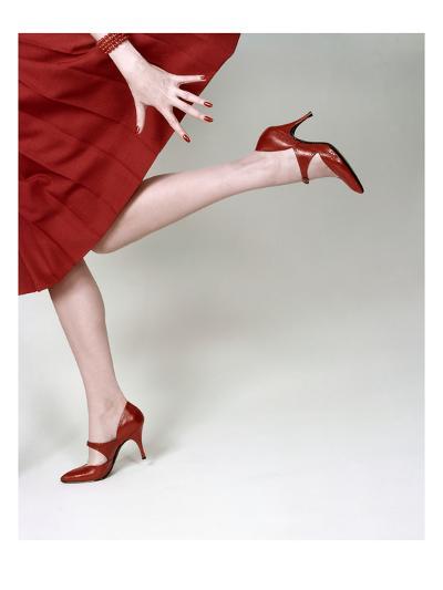 Vogue - February 1958 - Fleming-Joffe Red Heels-Richard Rutledge-Premium Photographic Print