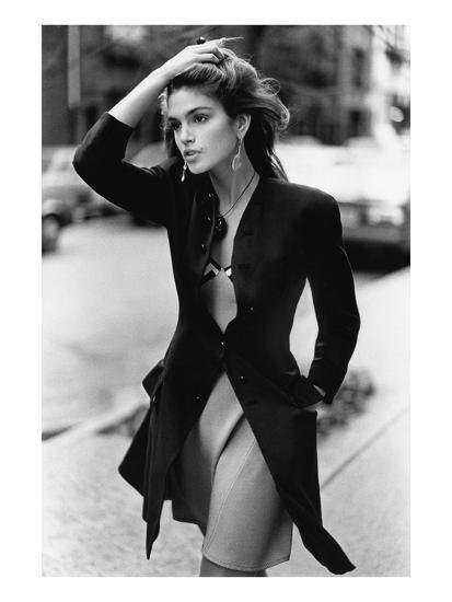 Vogue - February 1988 - Cindy Crawford, 1988-Arthur Elgort-Premium Photographic Print