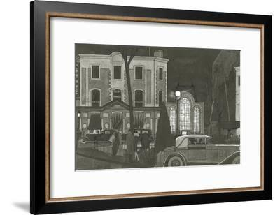 Vogue - January 1929-Pierre Mourgue-Framed Premium Giclee Print