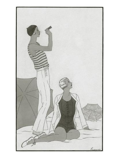 Vogue - January 1930-Polly Tigue Francis-Premium Giclee Print