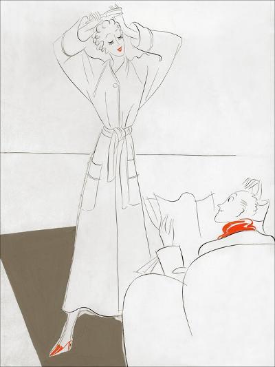 Vogue - January 1935-Eduardo Garcia Benito-Premium Giclee Print