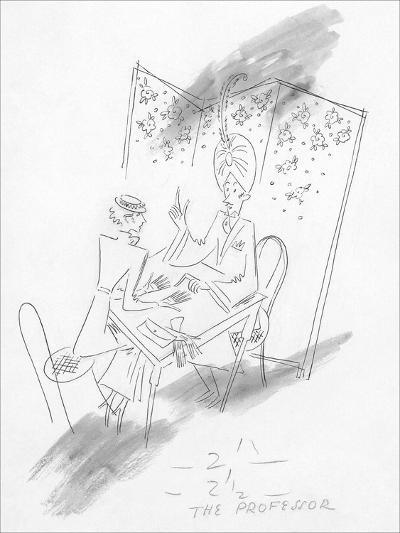 Vogue - January 1935-Constantin Alajalov-Premium Giclee Print