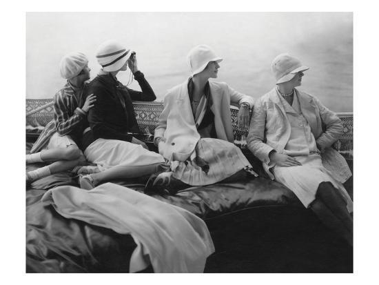Vogue - July 1928 - Yachting-Edward Steichen-Premium Photographic Print
