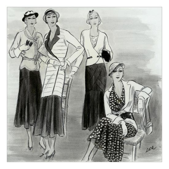 Vogue - July 1931-Creelman-Premium Giclee Print