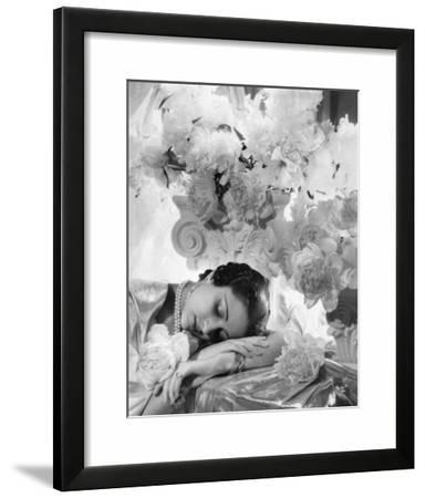 Vogue - July 1935 - Princess Karam of Kapurthala-Cecil Beaton-Framed Photographic Print