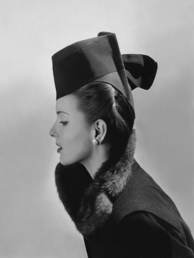 Vogue - July 1942 - Bettina Bolegard Modeling a Hat-Horst P. Horst-Premium Photographic Print