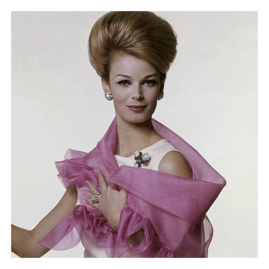 Vogue - July 1962 - Woman with Bouffant Hairdo-Bert Stern-Premium Photographic Print