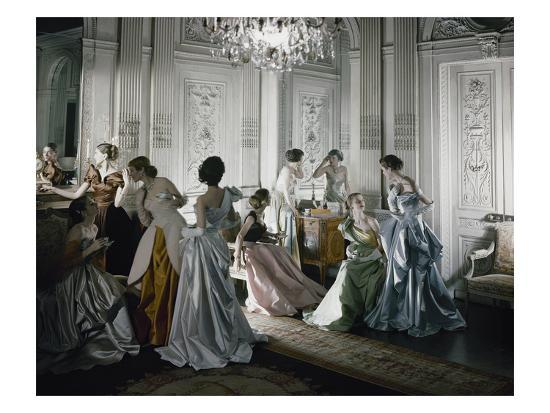 Vogue - June 1, 1948 - Charles James Ballgowns--Premium Photographic Print