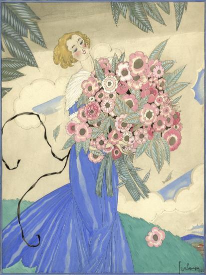 Vogue - June 1923-Georges Lepape-Premium Giclee Print