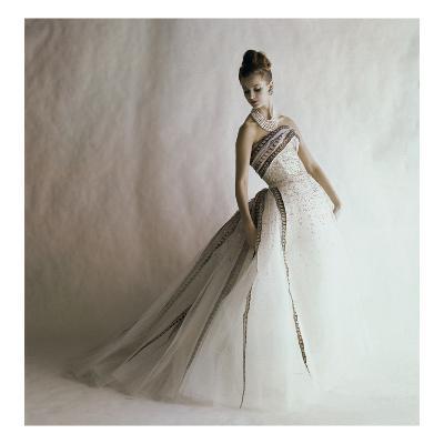 Vogue - June 1960 - Balmain Ball Gown-Jerry Schatzberg-Premium Photographic Print