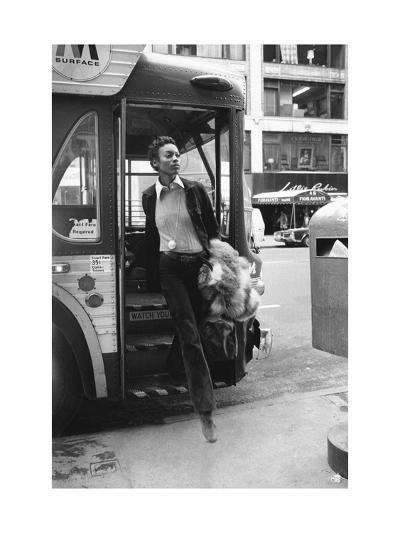 Vogue - June 1972 - Getting Off the Bus-Berry Berenson-Premium Photographic Print