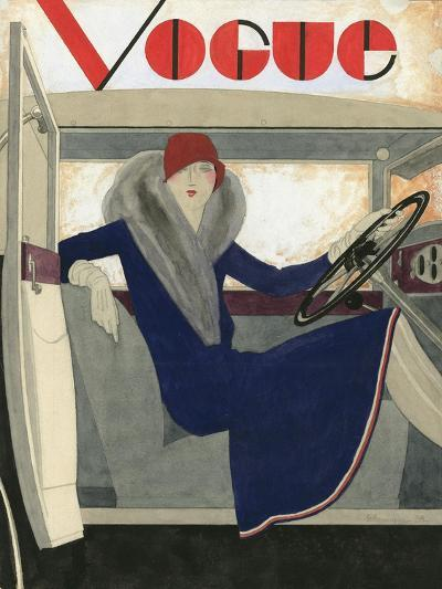 Vogue - March 1929-Pierre Mourgue-Premium Giclee Print