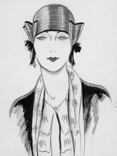 Vogue - March 1929-Porter Woodruff-Premium Giclee Print