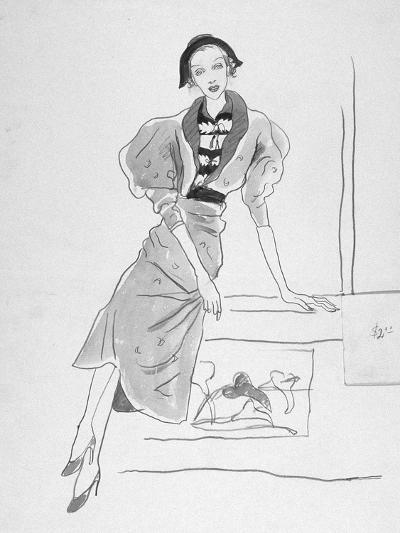 Vogue - March 1935-Cecil Beaton-Premium Giclee Print