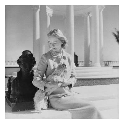 Vogue - March 1951 - C.Z. Guest at the Villa Artemis-Cecil Beaton-Premium Photographic Print