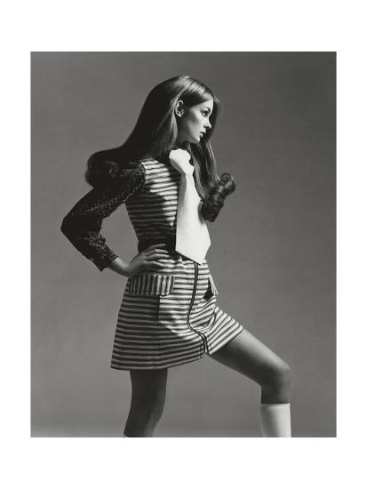 Vogue - March 1969 - Jean Shrimpton in Mini-Gianni Penati-Premium Photographic Print