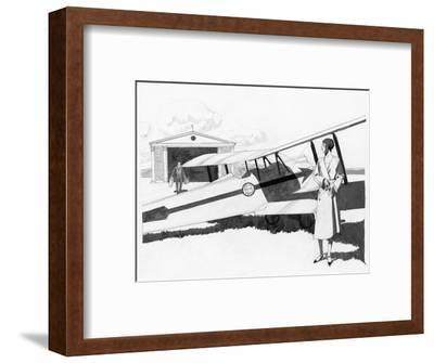 Vogue - May 1930-Pierre Mourgue-Framed Premium Giclee Print